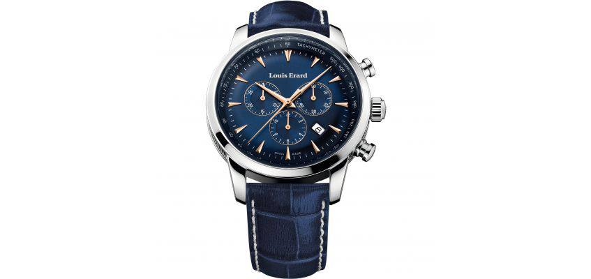 Louis Erard blue watch