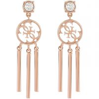 Ladies Guess Rose Gold Plated Miss Divine Earrings