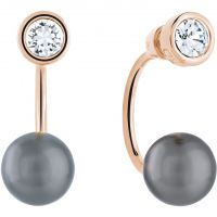 Ladies Guess Rose Gold Plated Opposites Attraction Earrings