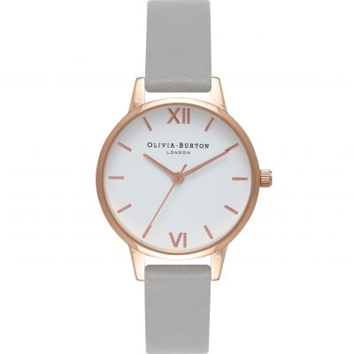 White Dial Rose Gold  & Grey Watch