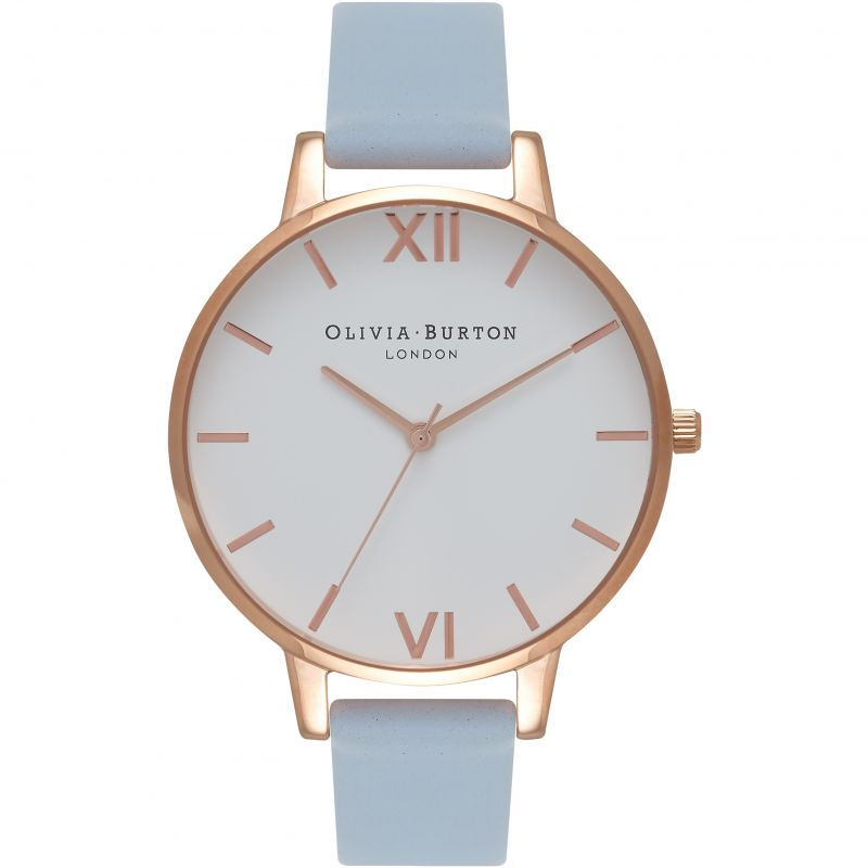 Damen Olivia Burton Big White Dial Watch OB16BDW18