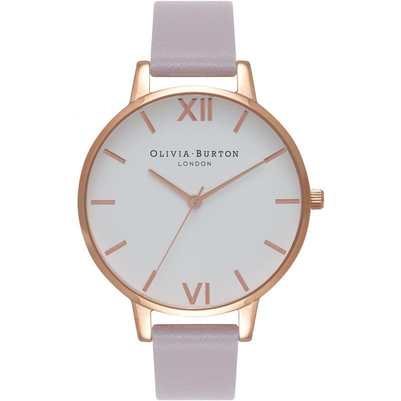 femme Olivia Burton Big White Dial Watch OB16BDW16
