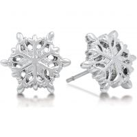 Biżuteria damska Disney Couture Frozen White Snowflake Stud Earrings DFE300
