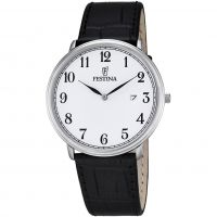 Festina Classic Leather Herenhorloge Zwart F6839/1