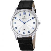 Festina Classic Leather Herenhorloge Zwart F6851/2