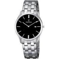 Herren Festina klassisch Metall Uhr