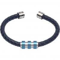 Biżuteria męska Unique & Co & Leather Bracelet B285BLUE/21CM