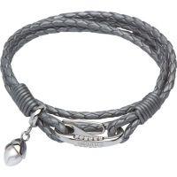 femme Unique & Co & Leather With Pearl Charm Bracelet Watch B290SG/19CM
