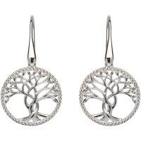 Damen Unique Sterlingsilber Baum Ohrringe