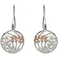 Ladies Unique & Co Sterling Silver Leaf Earrings