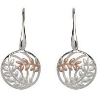 Ladies Unique Sterling Silver Leaf Earrings ME-567