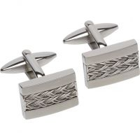 Mens Unique & Co Stainless Steel Cufflinks
