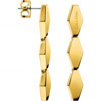 Damen Calvin Klein PVD Gold überzogen Ohrring