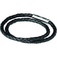 Herren Verbindungen Of London Sterlingsilber Venture Leder Double Armband