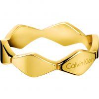 Damen Calvin Klein PVD Gold überzogen Größe L.5 Ring