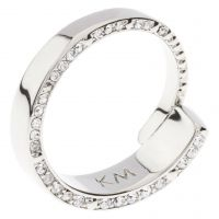 femme Karen Millen Jewellery Contoured Crystal Ring SM Watch KMJ934-01-02SM