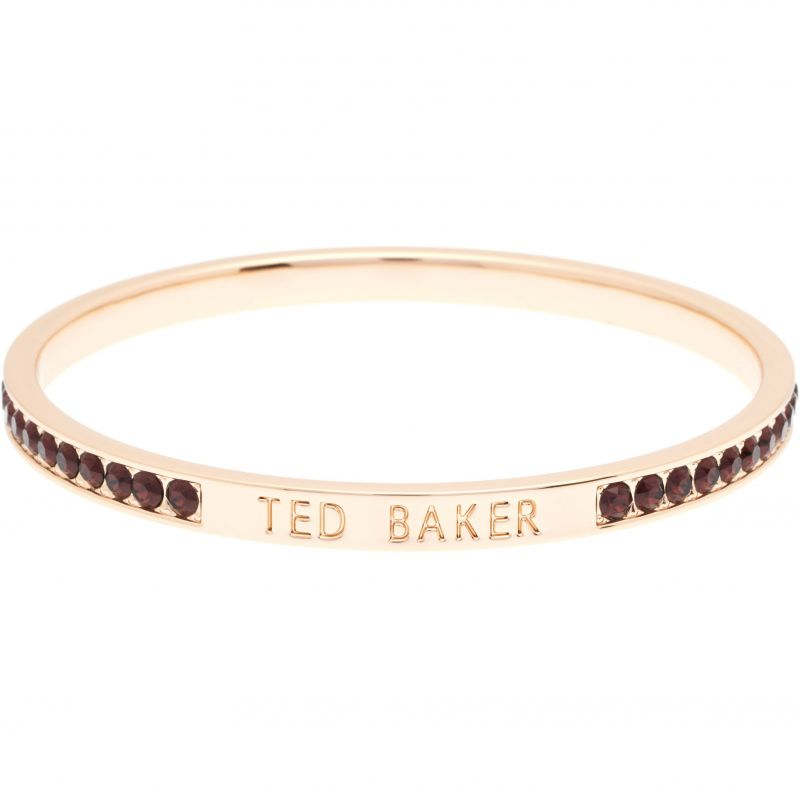 Ladies Ted Baker Gold Plated Clem Narrow Crystal Band Bangle TBJ1050-24-167
