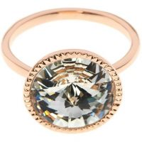 Ladies Ted Baker Rose Gold Plated Rada Rivoli Crystal Ring SM TBJ1159-24-23SM