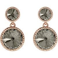 Ladies Ted Baker Rose Gold Plated Ronda Rivoli Crystal Earring