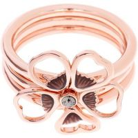 femme Ted Baker Jewellery Leotie Enamel Flower Stacking Ring ML Watch TBJ1243-24-23ML