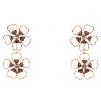 Ladies Ted Baker Gold Plated Lorel Enamel Flower Double Earring TBJ1244-24-23