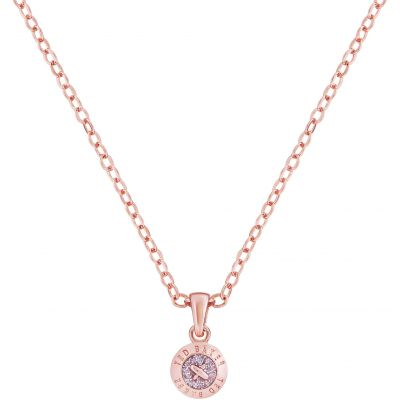 Ladies Ted Baker Rose Gold Plated Elvina Enamel Mini Button Pendant Necklace TBJ1260-24-138