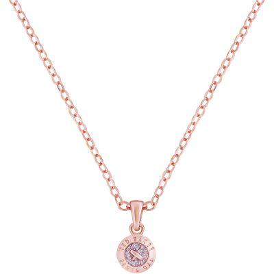 Ladies Ted Baker Rose Gold Plated Elvina Enamel Mini Button Pendant Necklace TBJ1260-24-138