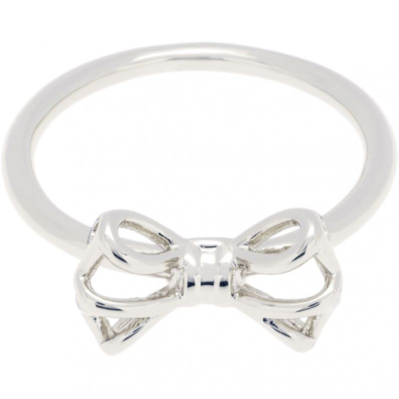 Ladies Ted Baker Silver Plated Ginniee Tiny Geometric Bow Ring SM TBJ1320-01-03SM
