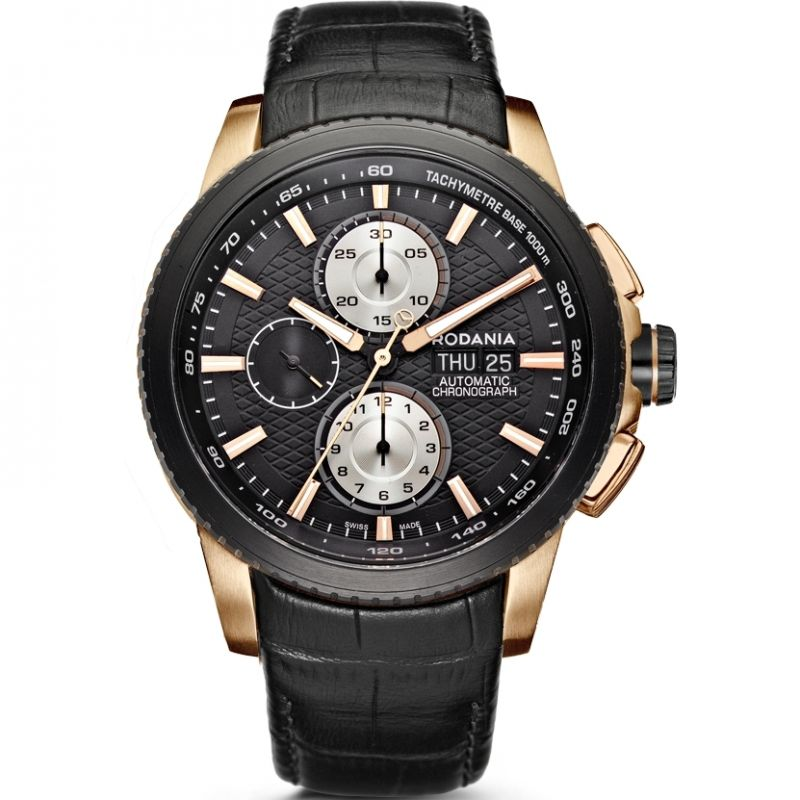 Mens Rodania Swiss Chic Autom Automatic Chronograph Watch RS2505323