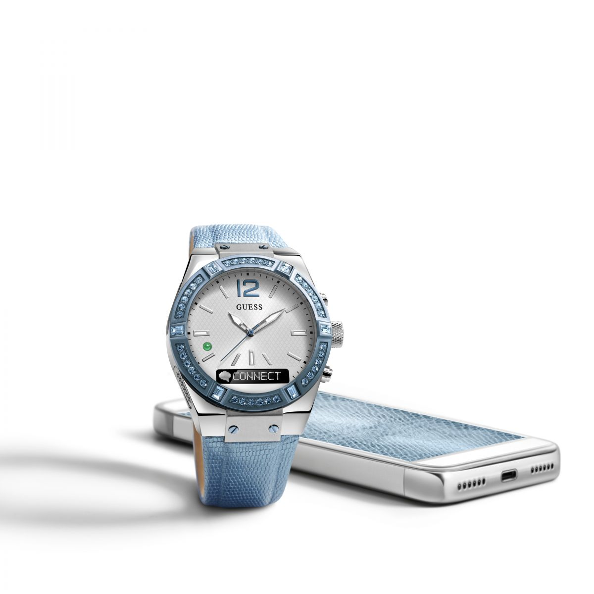 femme guess connect bluetooth hybride smartwatch montre c0002m5. Black Bedroom Furniture Sets. Home Design Ideas