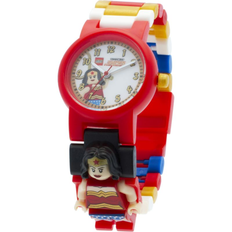 Childrens LEGO DC Super Heroes Wonder Woman Minifigure Link Watch 8020271