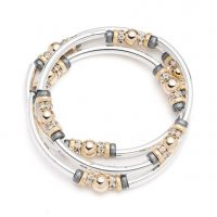 Ladies Nine West Two-tone steel/gold plate Metal Mingle Bracelet 60441202-Z01