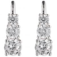 Ladies Anne Klein Silver Plated Fancy Additions Earrings