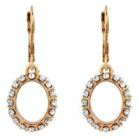 Ladies Anne Klein Rose Gold Plated Crystal Glitz Earrings 60422461-9DH