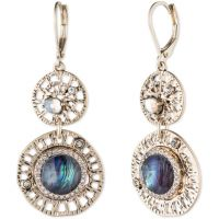 Ladies Lonna And Lilly Silver Plated Fancy Filigree Earrings