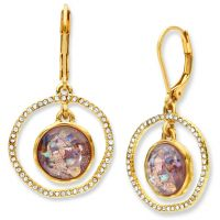 Ladies Lonna And Lilly Gold Plated Gold Standard Earrings