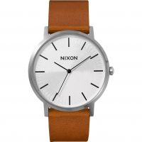Nixon The Porter Leather Herrklocka Brun A1058-2442