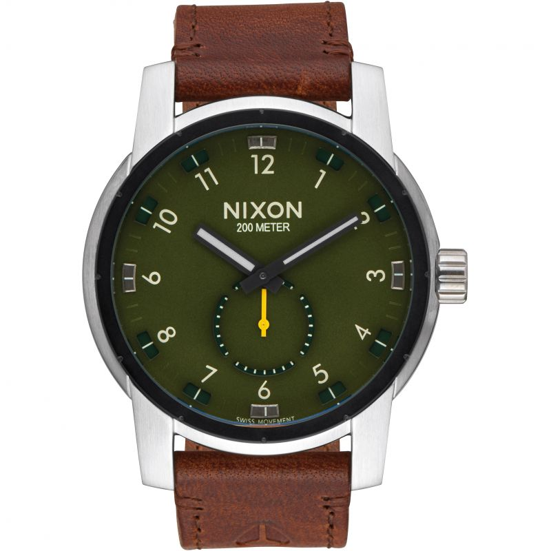 Mens Nixon The Patriot Leather Watch A938-2334