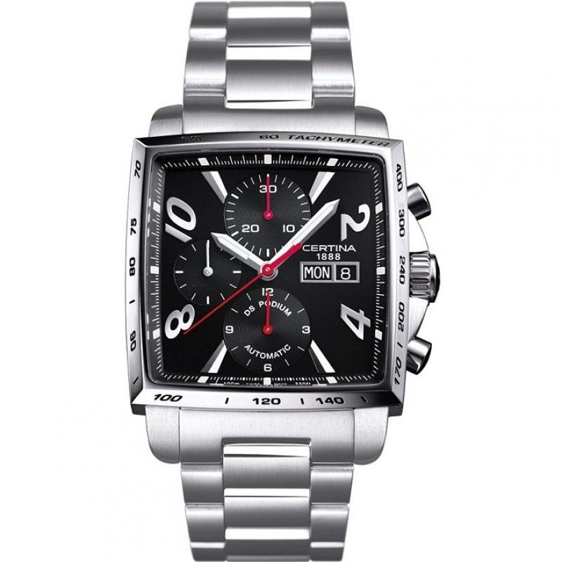 Herren Certina DS Podium Square Chronograph Watch C0015141105700