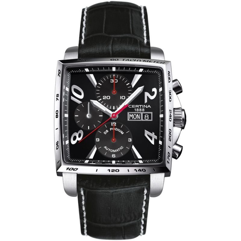 Herren Certina DS Podium Square Chronograph Watch C0015141605701