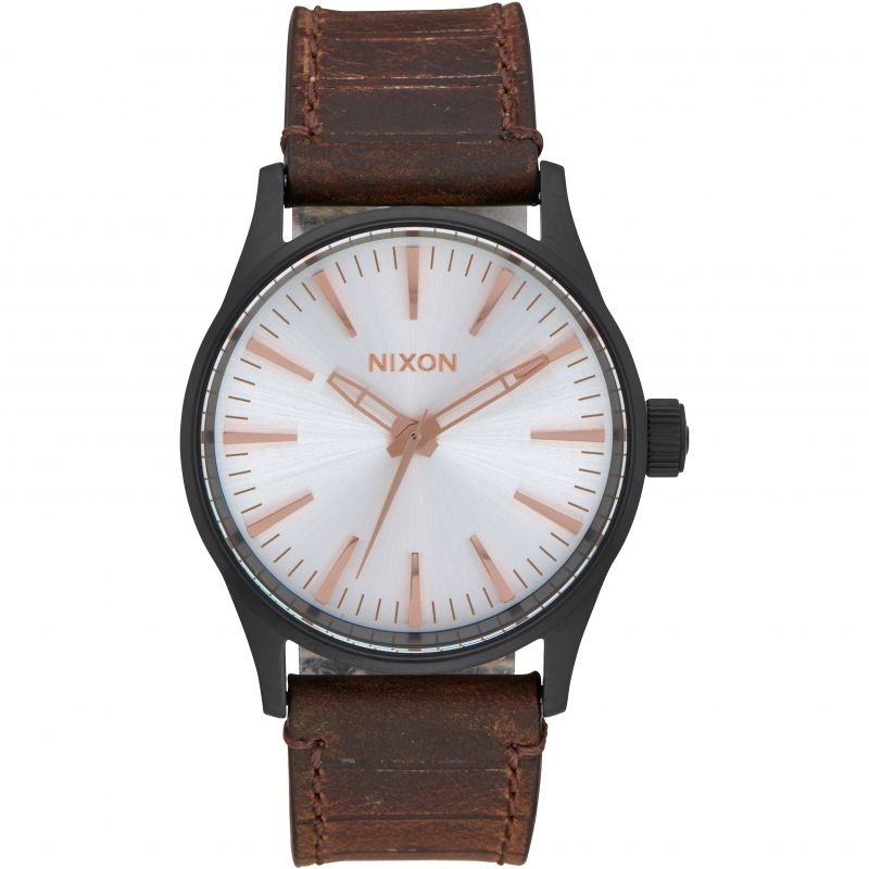 Unisex Nixon The Sentry 38 Leather Watch A377-2358