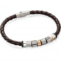 Mens Fred Bennett Stainless Steel & Leather Bracelet B4544