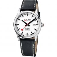 Mens Mondaine Swiss Railways Sport Day Date Watch