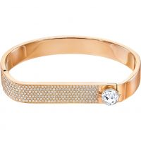 Ladies Swarovski Rose Gold Plated Forward Bangle