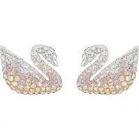 femme Swarovski Jewellery Iconic Swan Earrings Watch 5215037