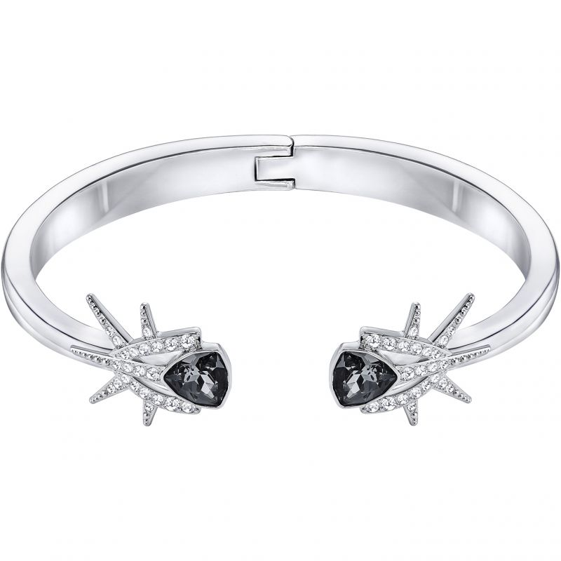 Ladies Swarovski Rhodium Plated Fantastic Bangle 5230608