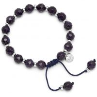 Ladies Lola Rose Rhodium Plated Blue Sandstone Grady Bracelet