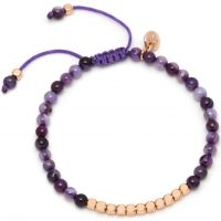 Ladies Lola Rose Rose Gold Plated Purple Agate Marylebone Bracelet