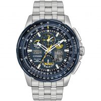 Herren Citizen Skyhawk A-T Blue Angels Alarm Chronograph Radio Controlled Eco-Drive Watch JY8058-50L