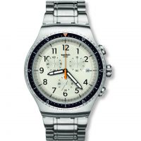 homme Swatch Minimalis Tic Chronograph Watch YOS453G